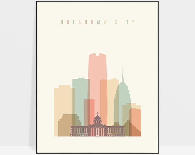 Oklahoma city print, Poster, Wall art, Oklahoma city skyline, cityscape, City poster, Typography art Home Decor Digital Print ArtPrintsVicky