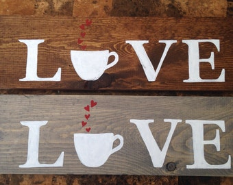 Pallet Wood Coffee Love Sign