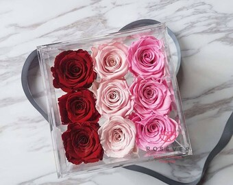 Rose Delight/Preserved rose box/Rose treasure box