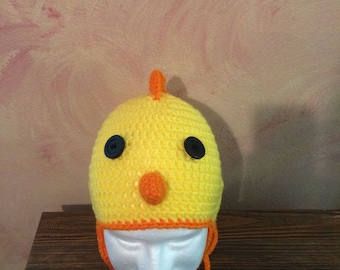Chick Ear-flap Hat - Adult