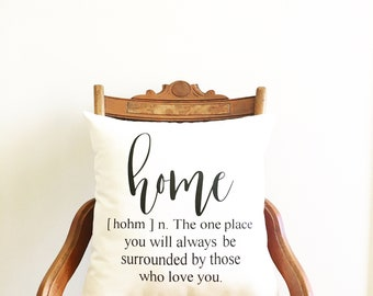 housewarming gift home definition pillow cover newlywed wedding gift farmhouse pillow cover throw pillow modern farmhouse decor gift for mom