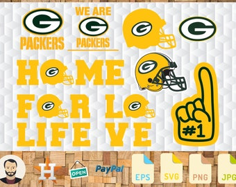 Green Bay Packers Svg, Eps, Jpg, Png - Instant Download