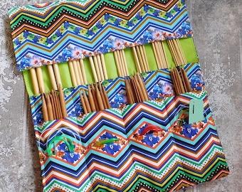 Knitting Needle Case - Needle Storage Case - Needle Roll - Circular Needle Storage - Double Pointed Needle Storage - Gift for Knitter