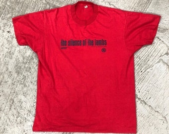 1991 silence of the lambs movie promo XL t shirt screen stars usa 50-50