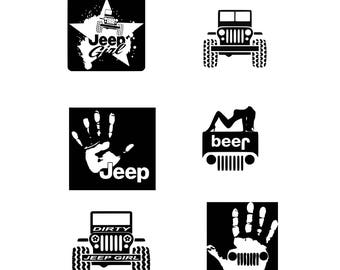Jeep SVG Jeep Girl SVG cut files Jeep cut file Jeep DXF Jeep Clipart  Svg Files for Silhouette Cameo or Cricut