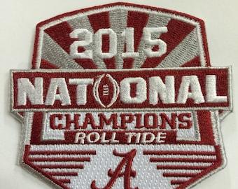 Alabama 2015 NCAA Football National Championship Iron-On Patch