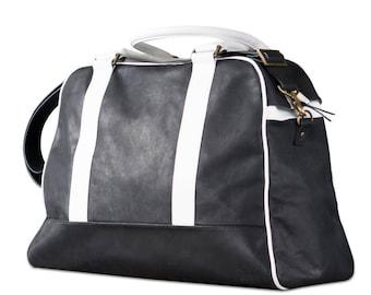 Leather weekender. Handmade bag. Large overnighter