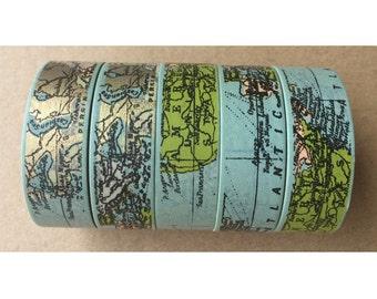 World Map Washi Tape, Map Washi Tape, Nautical Map Washi Tape, sea route, travel plans, sea world, Scrapbooking Masking Tape, Papercraft