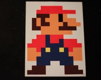8 Bit Mario Sticker Decal