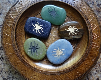 SPIDER Gemstone Animal Spirit Totem for Spiritual Jewelry or Crafts