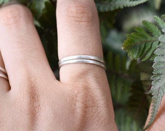 Sterling Silver Stacking Ring | Sterling Silver Band | Hammered Ring| Hammered Silver Ring | Hammered Stackable Rings | Sterling Silver Ring