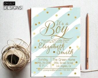 Boy Baby Shower Invitation, It's a boy invitation, Baby Boy Invitation, Baby Shower Invite, Printable Baby Shower Invite