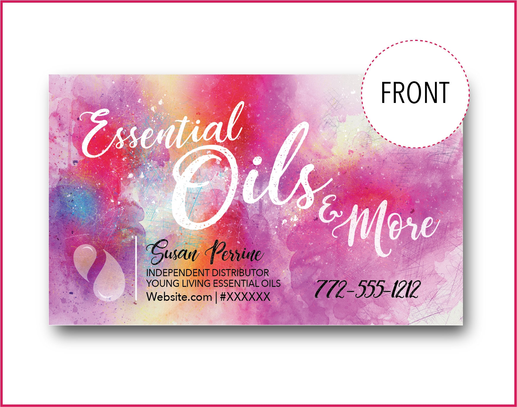 Business Cards For Essential Oils Downloadable And Printable
