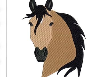 Embroidery Designs Buckskin Horse Head Sorrel Horse Head Set of 2 5x7