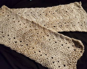 Silky Crochet Chevron Scarf