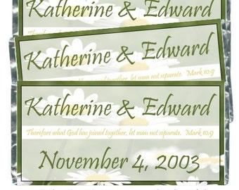 50 mariage Candy Wrappers, mariée douche Candy Wrappers, emballages de bonbons mariage - fit plus 1,55 oz tablettes de chocolat