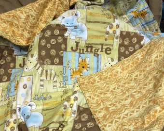 Yellow Jungle Baby Blanket