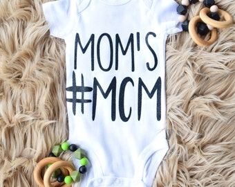Moms MCM,Boy,Onesie,Baby,Gift for Baby,Onesie,Style,Baby Shower,Hashtag,Cotton,Baby Clothes,Baby Fit, Baby Outfit, Fashion,Style,KidFashion