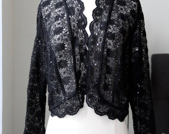 Vintage Black Lace Shawl