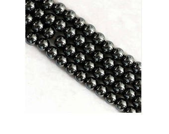 Set of 100 4 mm gunmetal hematite beads