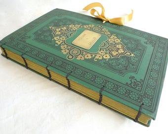 Large Photo Guestbooks, Wedding Scrapbook Album, Honeymoon Keepsake, Anniversary Journal, Personalized Wedding Book, Rebound Vintage Book