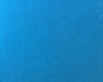 Dark Teal Blue Cotton Lycra Fabric by the yard BTY