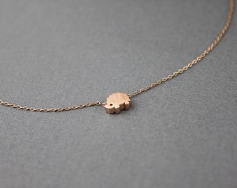 Tiny Hedgehog Charm Necklace Dainty and Delicate Hedgehog Pendant Necklace Birthday Gift