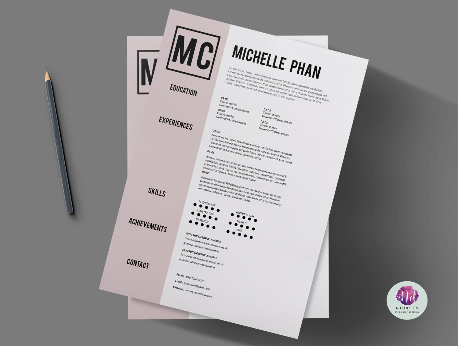 1 page CV template cover letter template references