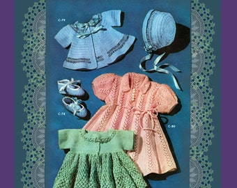 5 Baby Crochet Patterns for Baby Ballerina Booties, Sweaters, Bonnet and Dress ... Baby Bootees Pattern Instant Download  PDF ...C-80