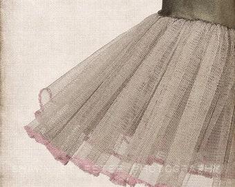 FLASH SALE til MIDNIGHT Vintage Green Tutu Skirt Vertical, Photo Print, Girls Nursery decor, French Decor Ballerina girls room prints, B