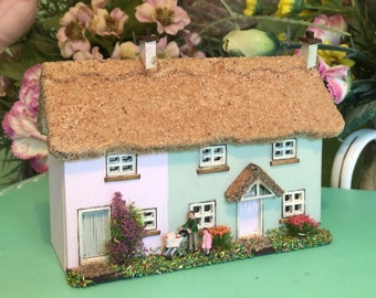 144th, Micro, dolls house, semi detached  Thatched cottage