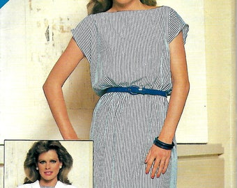 See & Sew 5154 Misses Dolman Sleeve Jacket And Bateau Neck Dress Pattern, Size 8-12, UNCUT