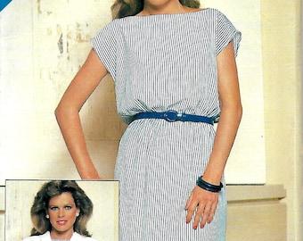 See & Sew 5154 Misses Dolman Sleeve Jacket And Bateau Neck Dress Pattern, Size 8-12, UNCUT