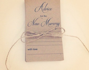 Baby Shower Advice Cards for Mummy or Daddy