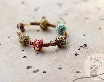 Floating Florals Tube Bracelet