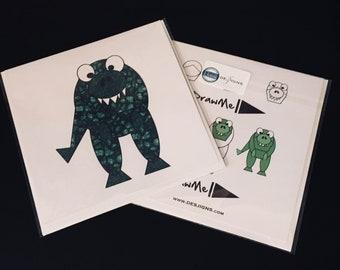 Dinosaur t rex Greeting Card by DrawMe Designs