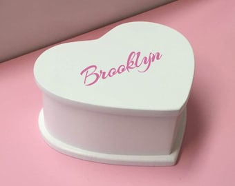 Personalized With All My Heart Ballerina Musical Jewelry Box