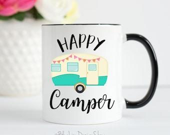 Happy Camper Mug, Camping Mug, Camp Mug, Funny Camping Mug, Camping Gift, Gift For Camper, Glamping Mug, Happy Glamper Mug, RV Mug