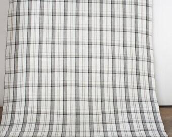 Vintage Checked Pattern Yukata Fabric  (1 meter)