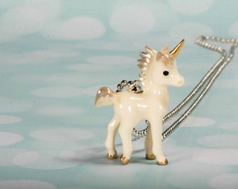 Ready To ship Unicorn - Unicorn Necklace - Unicorn Pendant - Unicorn Jewelry - Unicorn Jewellery - Silver Chain Necklace  Frenchtutu Unicorn