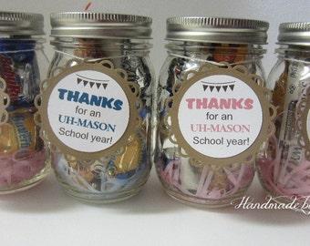 Mason Jar tag, Favor tag, Gift tag, party tag - made to order