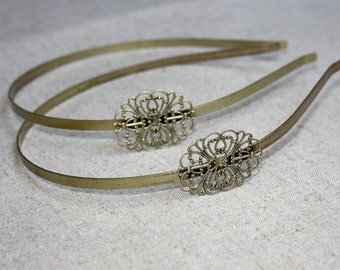free shipping in UK - 10 pcs Antique Bronze Headband Hair Band with filigree