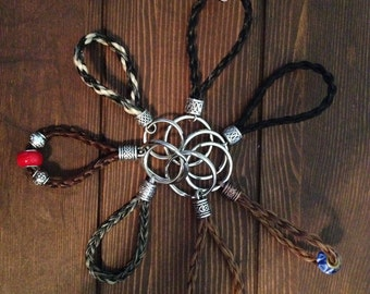Braided Horsehair Keychain - Custom