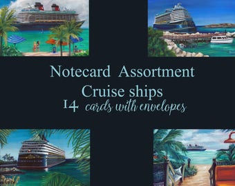 disney art, notecards, thank you cards, custom cards, greeting cards, cards, notes, stationary, cruise ship