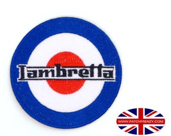Lambretta Scooter - Mods - Iron on Sew on Patch