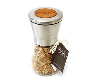 Beer + Bacon Seasoning Blend with Pepper Mill | Salt & Pepper Grinder | Hop Flowers | Grilling Seasoning | MollysMills