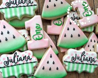 Watermelon Birthday Cookies - 1 dozen