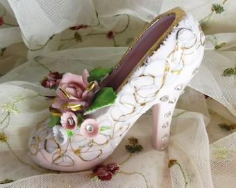 Lefton Pink Rhinestone High Heel Shoe