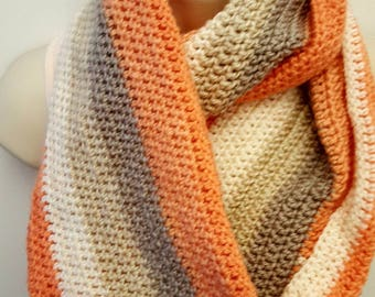 Creamsicle Orange Soft Infinity Scarf