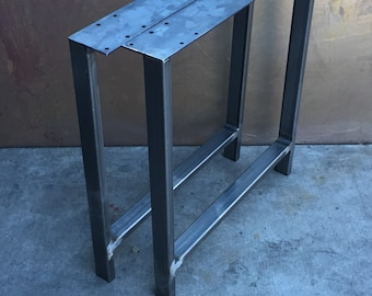 Metal table legs H set of 2